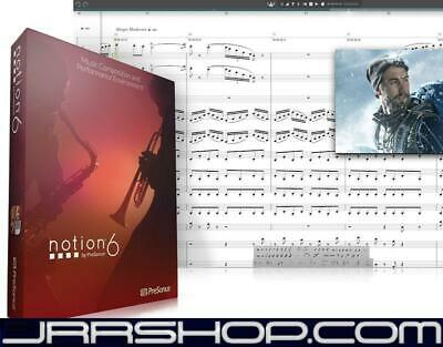 Presonus Notion 6 Upgrade From Notion 3, 4, 5 EDelivery JRR Shop • 28.69£