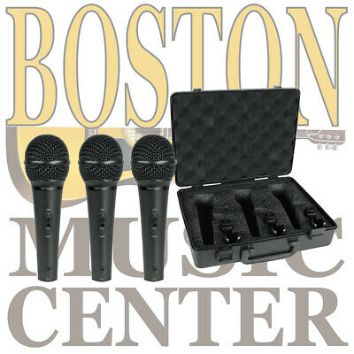 Behringer XM1800S 3 Dynamic Cardioid Vocal And Instrument Microphones (Set Of 3) • 55.07£