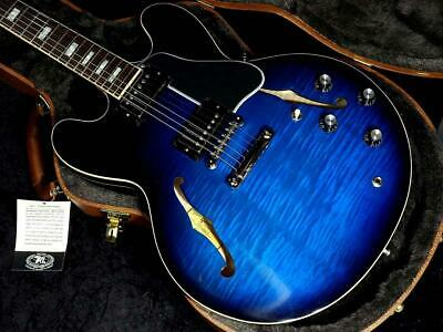 Gibson Memphis ES-335 Figured 2019 Blue Burst With H/C From Japan Free Shipping • 4,754.26£