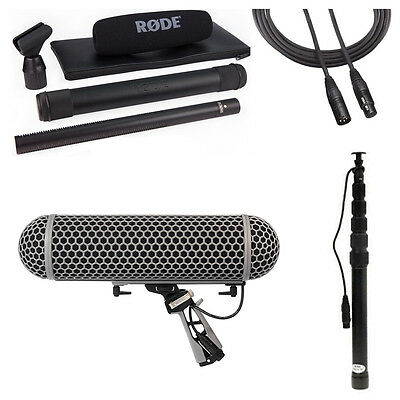 Rode NTG3B Microphone With Rode Blimp, K-Tek 79CC Boompole & 20' XLR Cable • 802.10£