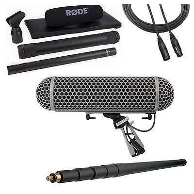 Rode NTG3B Microphone With Rode Blimp, K-Tek 110CC Boompole & 20' XLR Cable • 798.60£