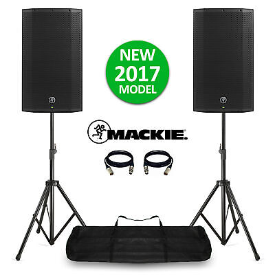 Mackie Thump12A V4 Active DJ PA Speakers 12  2600W With Stands & Bag NEW! 2017 • 585£
