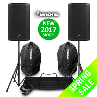 Mackie Thump12A V4 Active DJ PA Speaker 12  1300w Powered NEW With Stands & Bags • 649£