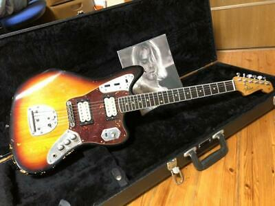 FENDER Mexico Kurt Cobain Jaguar Electric Guitar With H/C Used JP Free Shipping • 2,290.46£