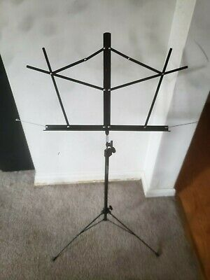 On-Stage Compact Folding Music Stand Black SM7122BB With Bag • 3.80£