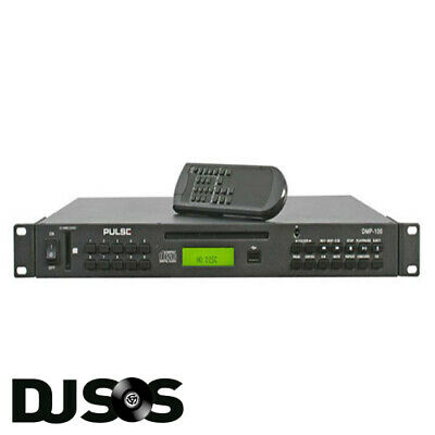 Pulse DMP-100 1U 19  Rack Mount CD / MP3 Media Player With Remote Control, NEW! • 148.95£