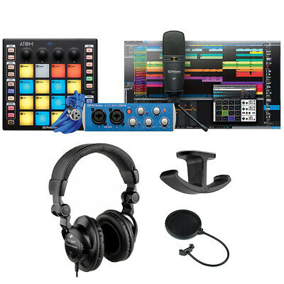 PreSonus ATOM Producer Lab Kit W/ Monitor Headphone, Headphone Hanger & Cable • 269.18£