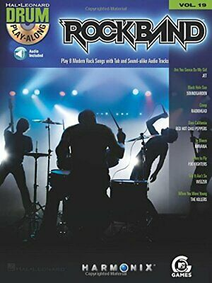 ROCK BAND - MODERN ROCK EDITION - DRUM PLAY-ALONG VOLUME By Hal Leonard Corp. VG • 13.91£