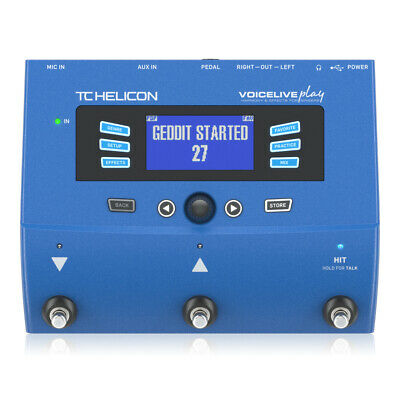 TC Helicon Voicelive Play 3-Button Vocal Effects Stompbox With Looping • 249£