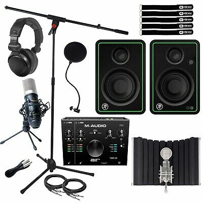 Home Recording Bundle M-Audio AIR192|8 USB MIDI Audio Interface W CR3-X Speakers • 355.35£