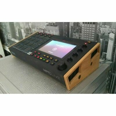 Synths & Wood Solid Oak End Cheeks Stand For Akai MPC Live Sampler & Sequencer • 49.99£