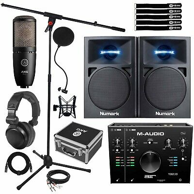 M-Audio AIR 192 | 8 Audio USB MIDI Home Studio Recording Interface W Speakers • 365.39£