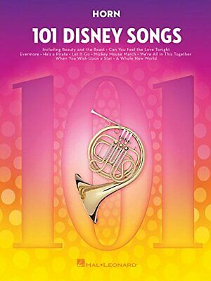 101 DISNEY SONGS: FOR HORN By Hal Leonard Corp. **BRAND NEW** • 27.38£