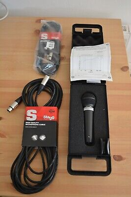 Behringer XM8500 ULTRAVOICE Dynamic Microphone With Mic Stand And Cables • 45£
