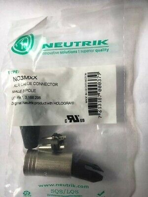 Neutrik Male XLR Plug Audio Cable Connectors NC3MXX 3 Pin • 3.50£