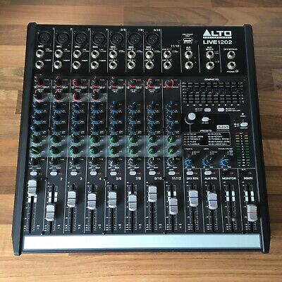 ALTO LIVE 1202 PROFESSIONAL 12-CHANNEL/2-BUS MIXER - For Parts Or Repair • 69.99£
