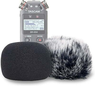 DR05X Windscreen Muff And Foam For Tascam DR-05X DR-05 Mic Recorders, DR05X Wind • 17.87£
