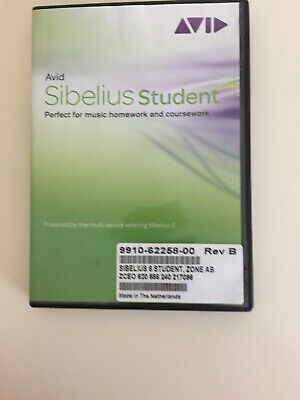 Sibelius 6 Student Edition (PC/Mac) By Avid | Software • 195£