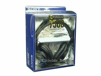 Sony MDR-7506 Professional Closed-Ear Back Large Dynamic Usdio Headphones UK*us • 93£