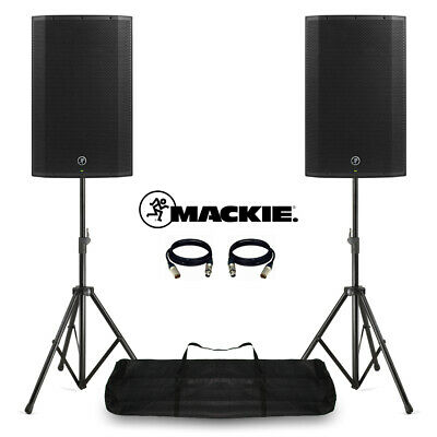 Mackie Thump15A V4 Active DJ PA Speakers 15  2600W Powered With Stands & Bag • 629£