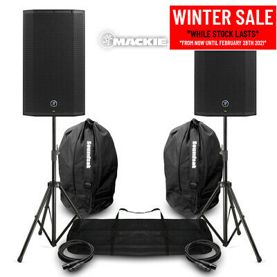 Mackie Thump12A V4 Active DJ PA Speaker 12  1300w Powered System Stands & Bags • 565£