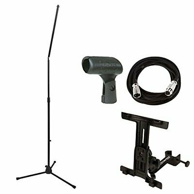 On Stage MS8301 Upper Rocker-Lug Mic Stand With Holder + Mic Cable + Mic Clip • 38.54£