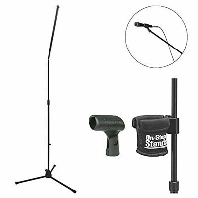 On-Stage MS8301 Upper Rocker-Lug Mic Stand + MY250 Mic Clip+Clamp On Cup Holder • 37£