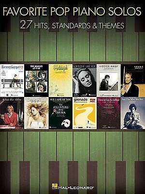 Favorite Pop Piano Solos - 27 Hits And Themes By Hal Leonard Corporation #P • 13.99£