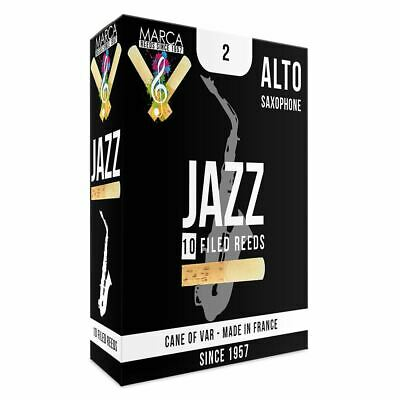 Marca Jazz Filed Reeds - 10 Pack - Alto� Sax - 2