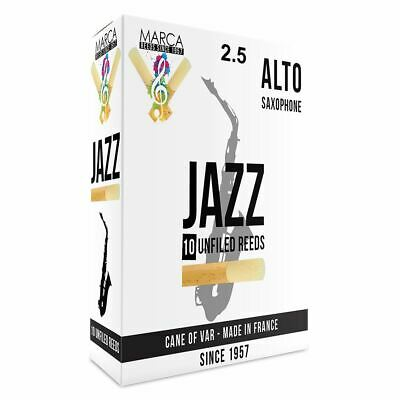 Marca Jazz Unfiled� Reeds - 10 Pack - Alto Sax - 2.5