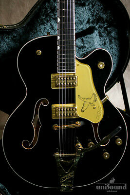 Gretsch G6136T-BLK Players Edition Falcon Hollow Body Safe Delivery From Japan • 3,915.88£