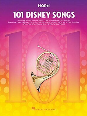 101 DISNEY SONGS: FOR HORN By Hal Leonard Corp. **BRAND NEW** • 23.03£