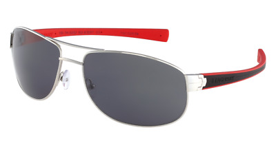Tag Heuer LRS 0252 102 Black & Red Sunglasses Sonnenbrille Grey CAT3 Lens 63mm • 278£