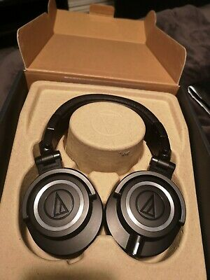 Audio-Technica ATH-M50X Wired Headphones - Black - Excellent Condition - Boxed • 57£