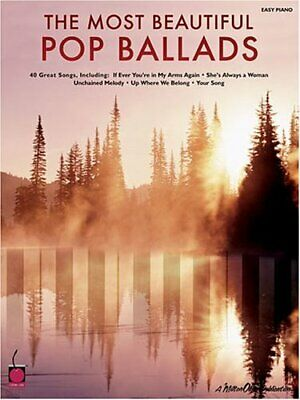 MOST BEAUTIFUL POP BALLADS (EASY PIANO SONGBOOK) By Hal Leonard Corporation *VG* • 18.09£