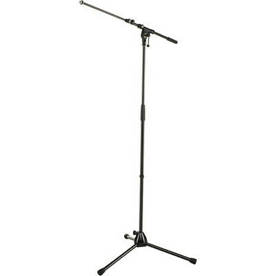 Mic Stand NEW K&M Konig & Meyer Microphone Stand 210/9 W/Telescoping Boom, Black • 22.22£