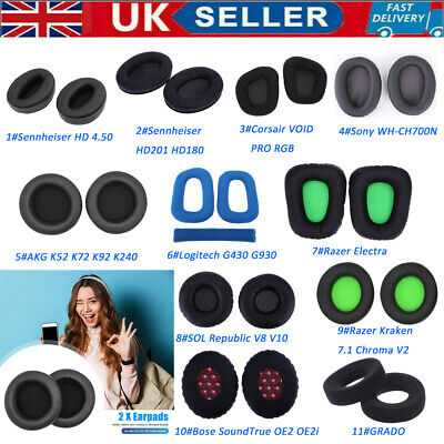 2pcs Replacement Earpads For Sennheiser/GRADO/Sony Headphones Various Models • 7.10£