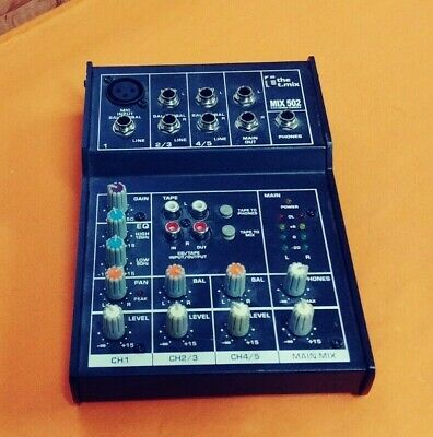 The T.mix - Mix 502 - 5 Channel Mixing Console - No Power Adapter • 21.46£