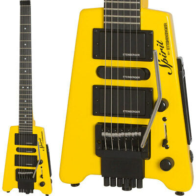 Steinberger Spirit GT-PRO DELUXE HY/Hot Rod Yellow Headless Electric Guitar • 651.83£