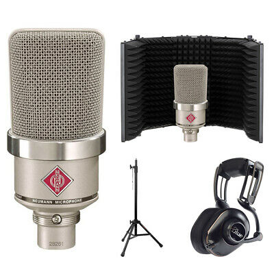 Neumann TLM-102 Studio Mic W/ Blue Mix-Fi Headphones, Filter & Stand • 731.47£