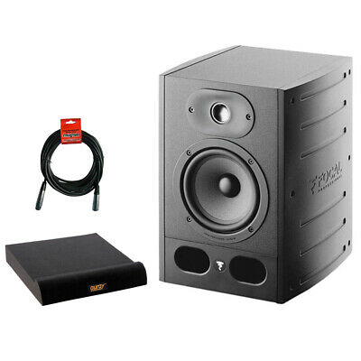 Focal Alpha 65 6.5  Pro Monitor Speaker W/ Isolation Pad, Large & XLR Cable • 293.79£