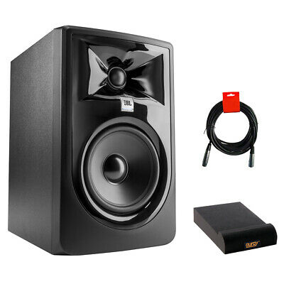 JBL 305P MkII 5  Studio Monitor With Small Isolation Pad & XLR Cable • 121.11£
