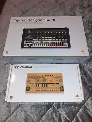 Behringer TD-3 Analog Bass Line Synthesizer & RD-8 - Roland Tr 808 Tb 303 Clone • 389£