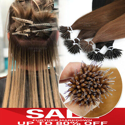 CLEARANCE 8A Russian Micro Beads Nano Ring Tip 100% Human Remy Hair Extensions A • 90.16£