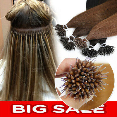 Russian Human Hair Extensions Remy Micro Beads Highlight Thick 1g TIP NANO RING • 82.27£