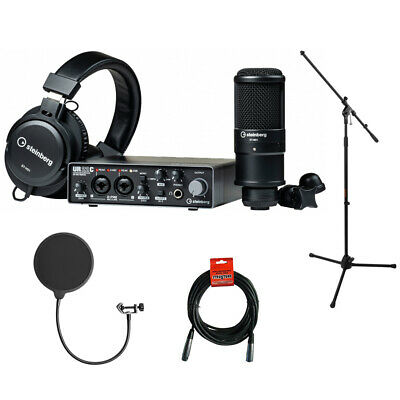 Steinberg UR22C RP Recording Pack W/ Mic Stad, Pop Filter & Cable • 263.31£