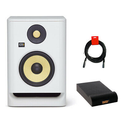 KRK RP5 Rokit 5 G4 Studio Monitor (White) With Isolation Pad & XLR Cable • 135.29£