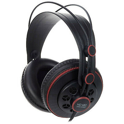 Superlux HD681 Stereo Headphones Black With Accessories 6.3 MM Adapter New • 43.17£