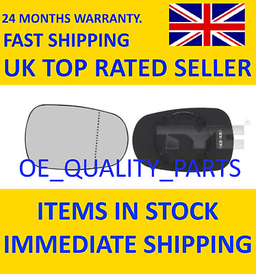 Glass Insert Outer Mirror Left 32400261 TYC For Renault Grand Scenic Thalia LHD • 22.96£
