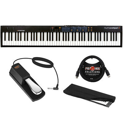 StudioLogic Numa Compact 2 88-Note Keyboard (Speaker) W/ Pedal, Cover & Cable • 358.70£